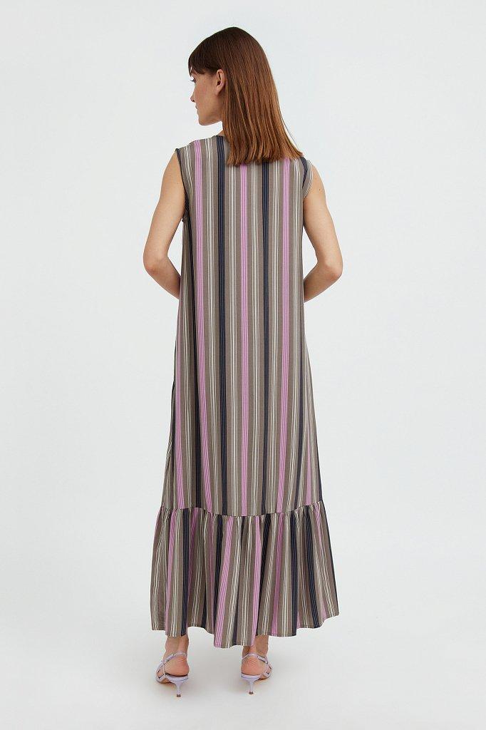 Полосатое платье с воланами, Модель S21-14079, Фото №4