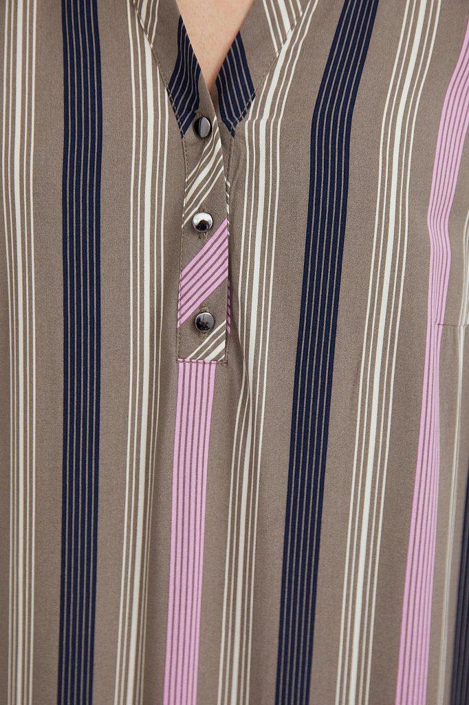 Полосатое платье с воланами, Модель S21-14079, Фото №5