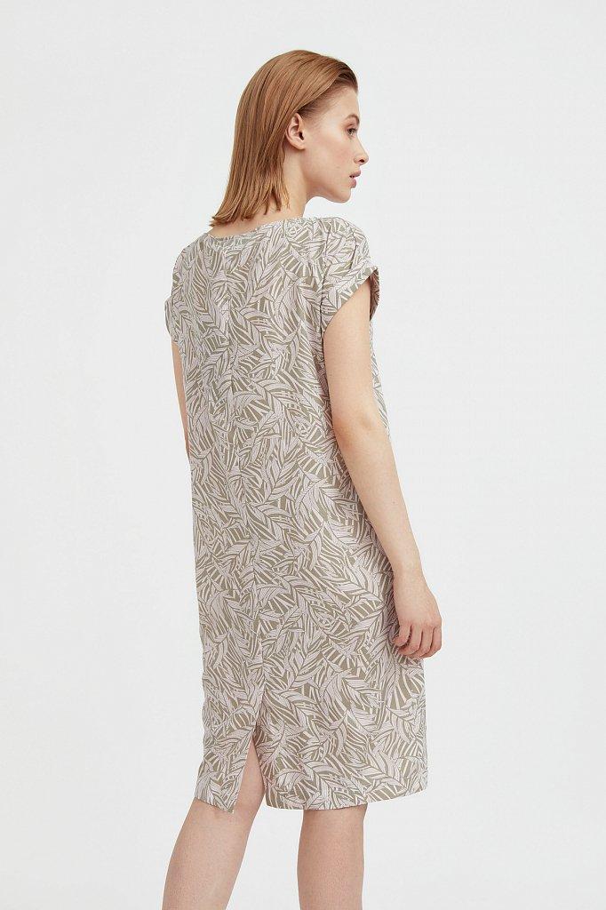 Прямое платье с растительным узором, Модель S21-14086, Фото №4