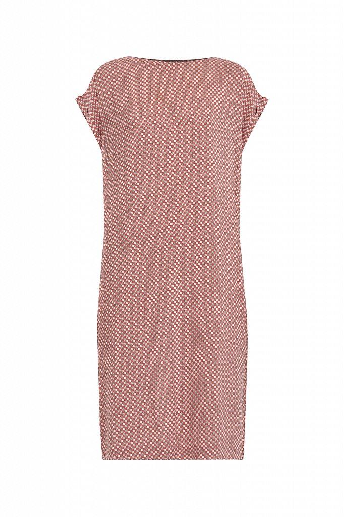 Прямое платье с геометричным принтом, Модель S21-14087, Фото №7