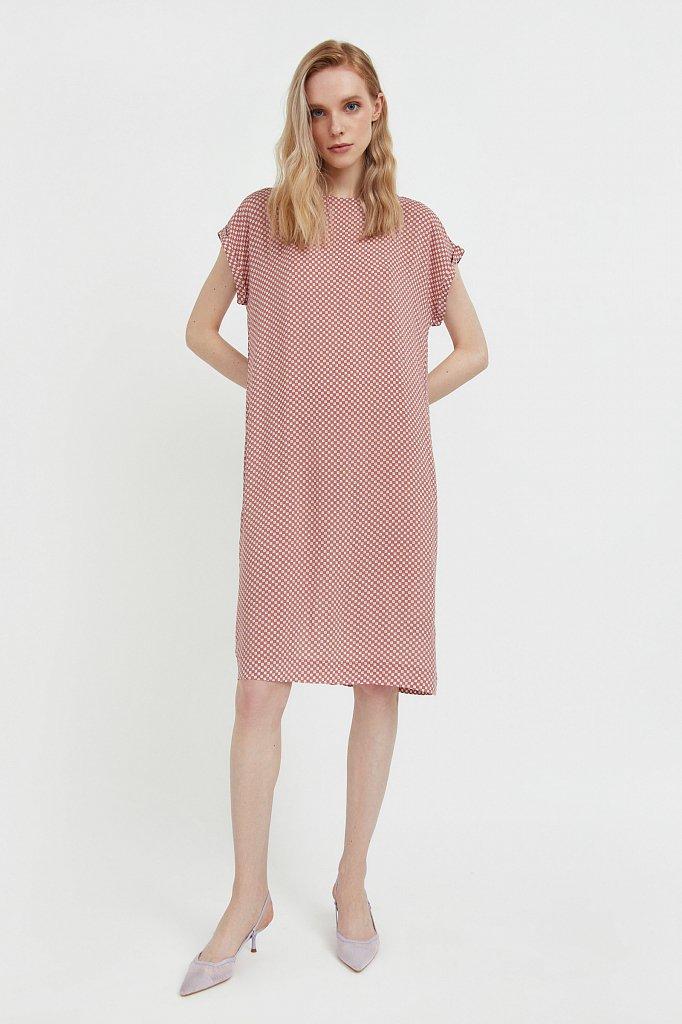 Прямое платье с геометричным принтом, Модель S21-14087, Фото №2