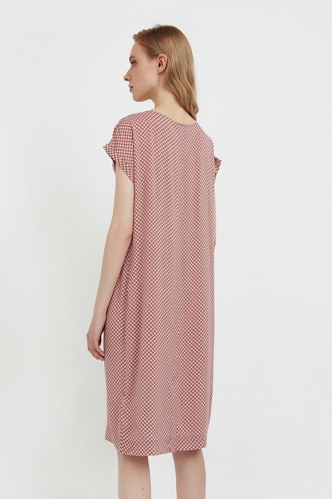 Прямое платье с геометричным принтом, Модель S21-14087, Фото №4
