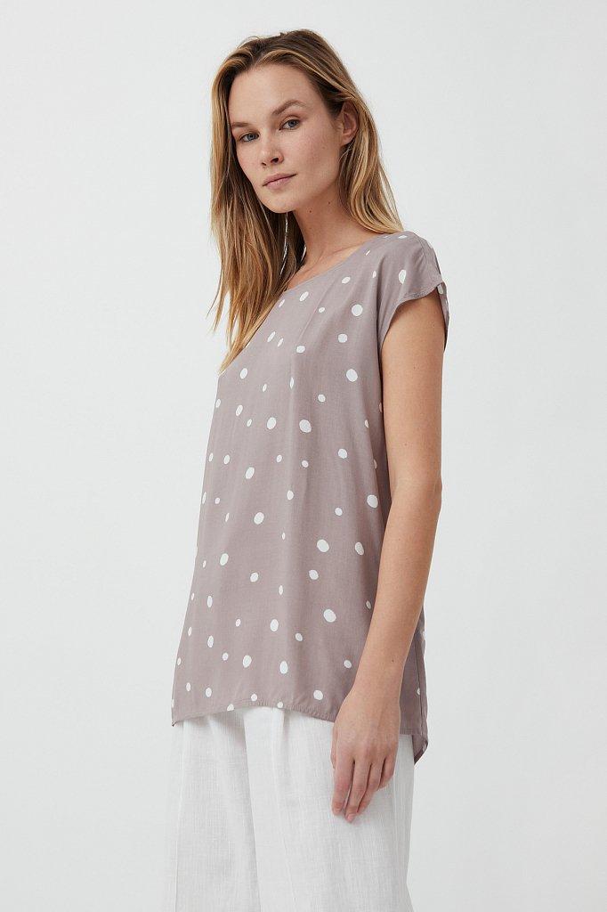 Блуза без рукавов с принтом, Модель S21-110101, Фото №1