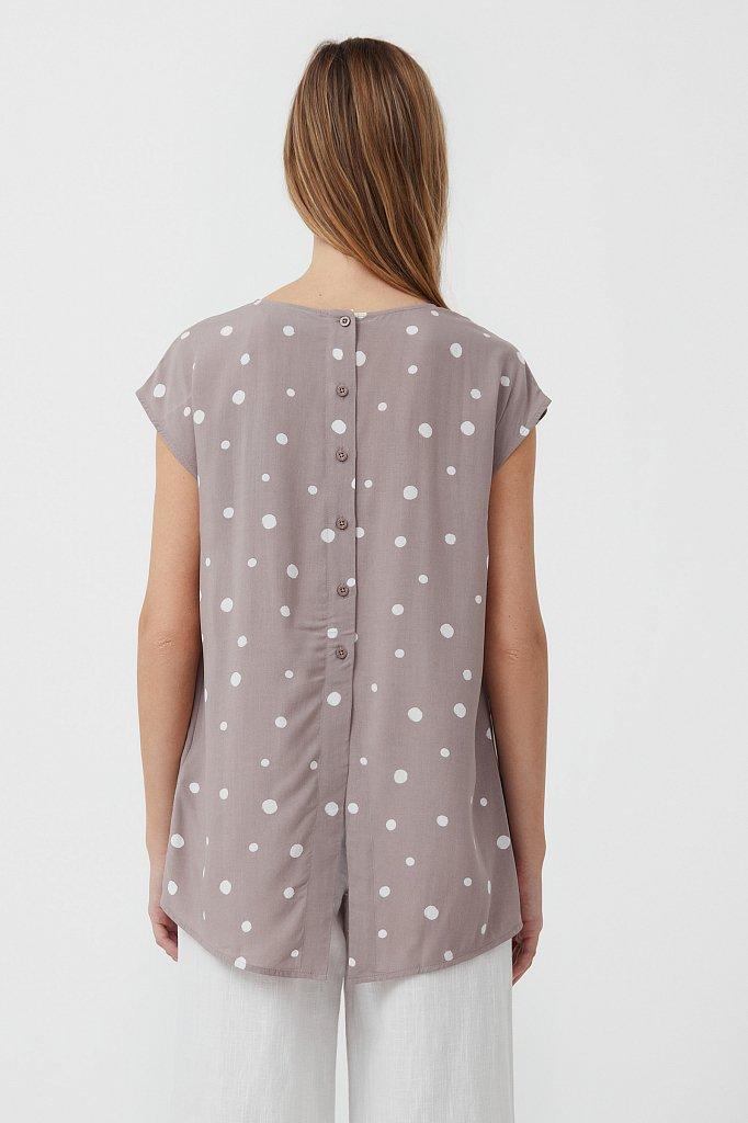 Блуза без рукавов с принтом, Модель S21-110101, Фото №4