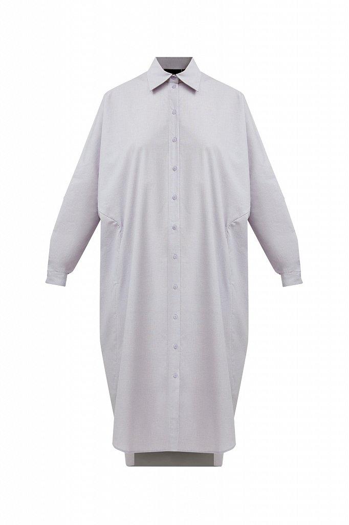 Платье-рубашка из 100% хлопка, Модель S21-11039, Фото №7