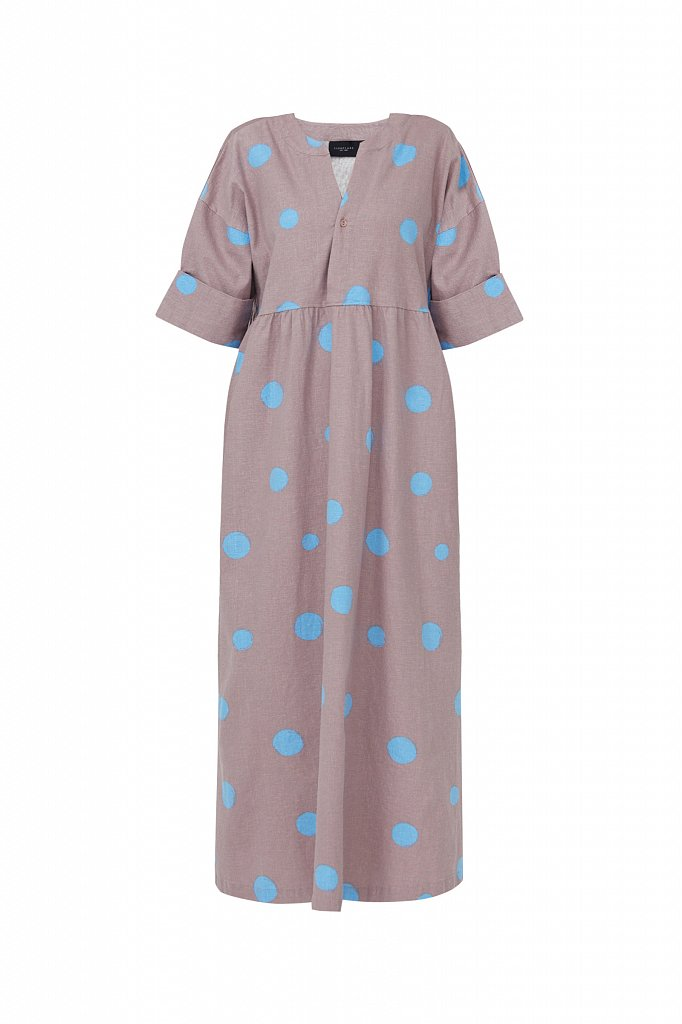 Платье-макси с крупным принтом, Модель S21-11042, Фото №7