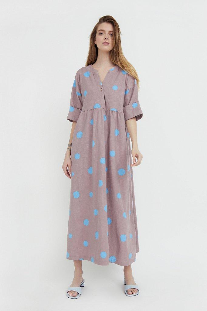 Платье-макси с крупным принтом, Модель S21-11042, Фото №2