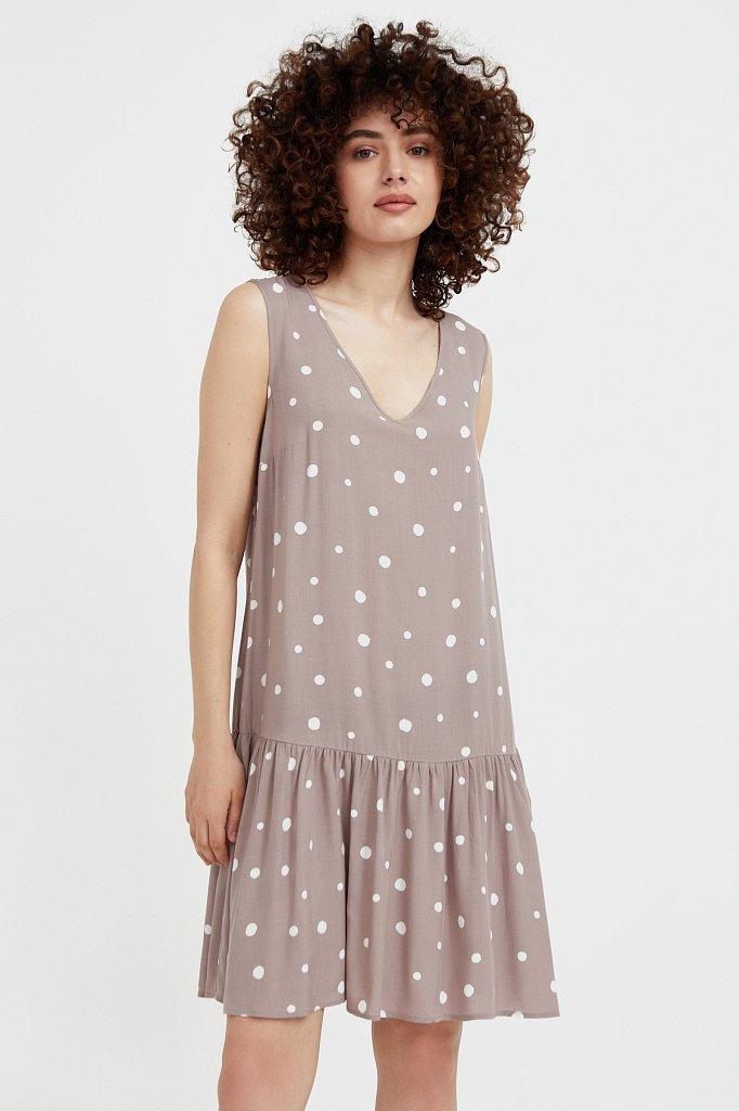 Короткое платье в горох, Модель S21-11096, Фото №1