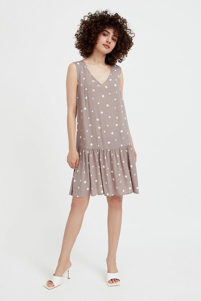 Короткое платье в горох, Модель S21-11096, Фото №2