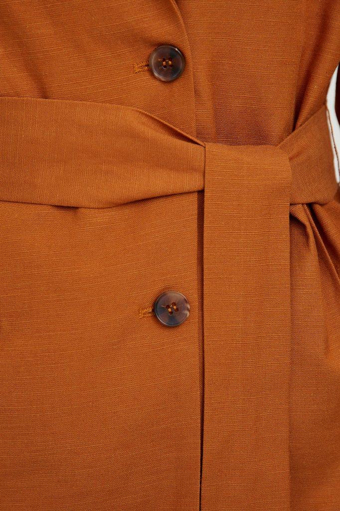 Свободный жакет с поясом, Модель S21-11061, Фото №6