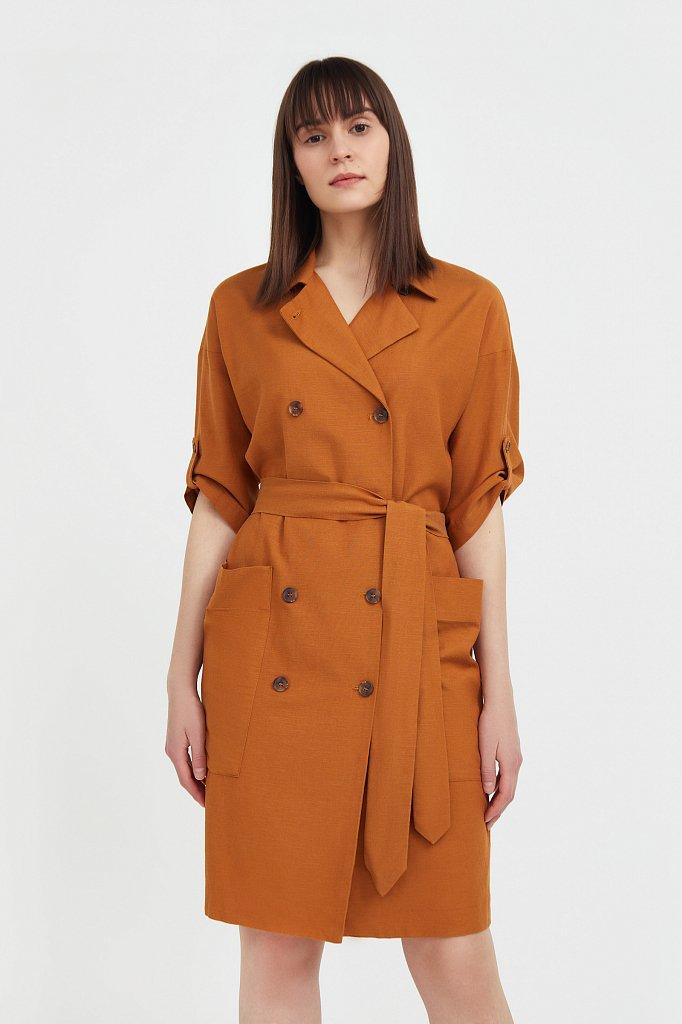 Платье-жакет с поясом, Модель S21-11063, Фото №2