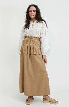 Льняная юбка макси S21-12074