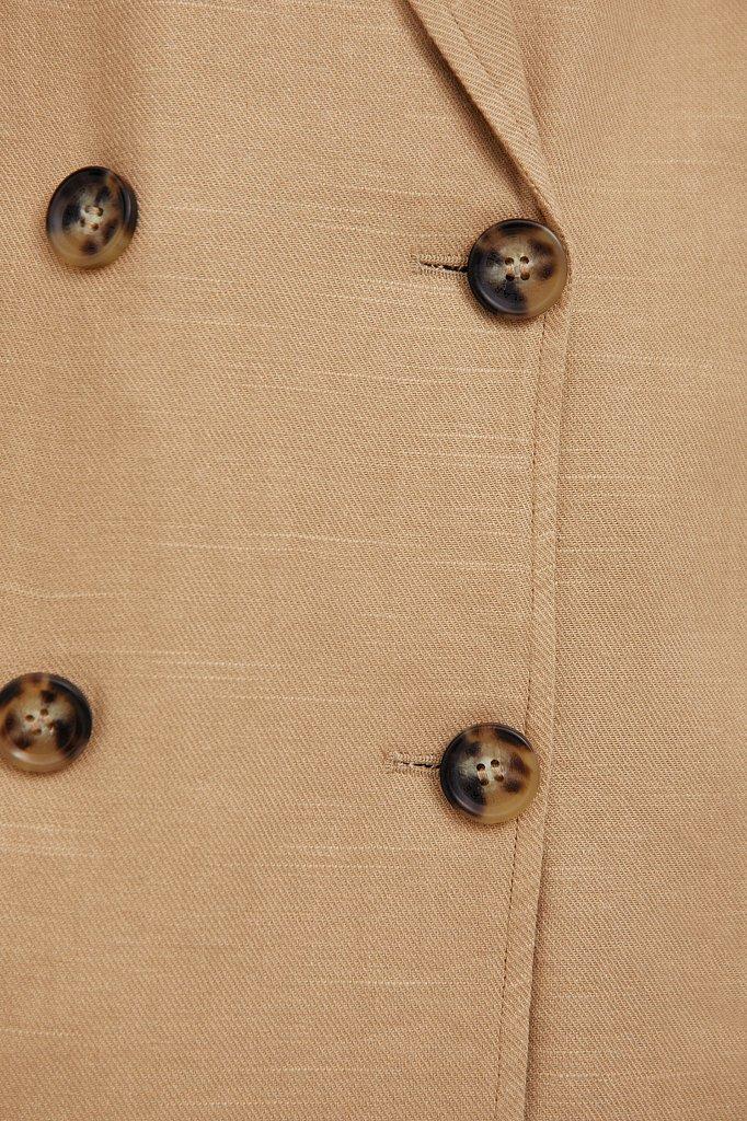 Свободный жакет из льна и хлопка, Модель S21-11073, Фото №5