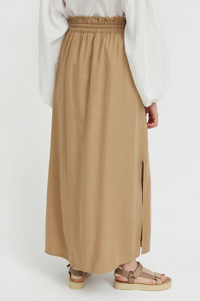 Льняная юбка макси, Модель S21-12074, Фото №4