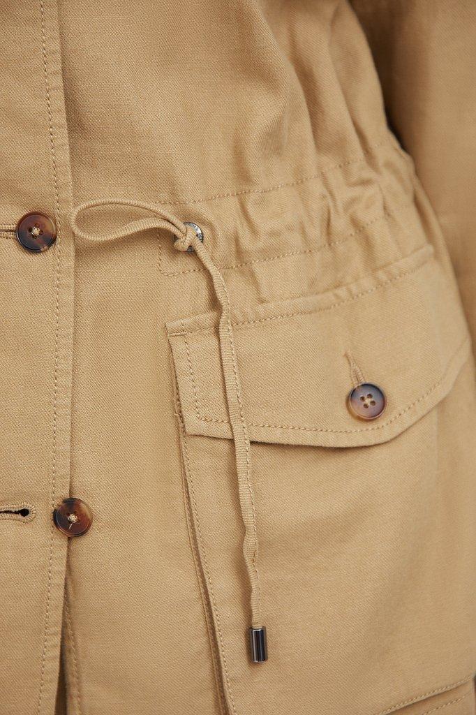 Льяной жакет с накладными карманами, Модель S21-12075, Фото №5