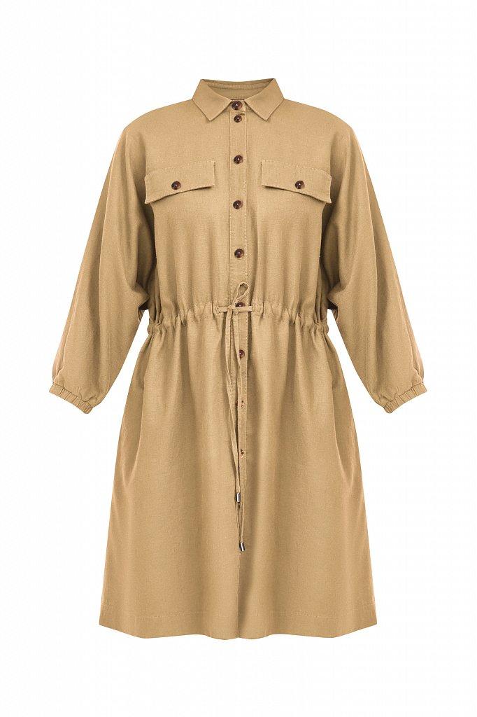 Льняное платье-рубашка, Модель S21-12077, Фото №7