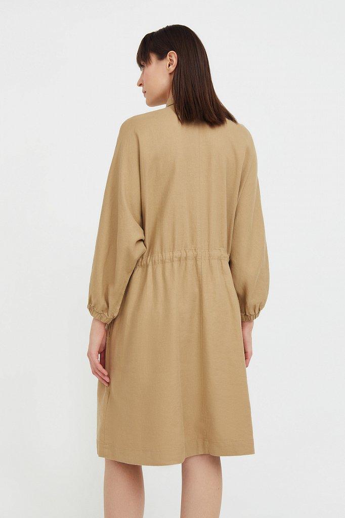 Льняное платье-рубашка, Модель S21-12077, Фото №4