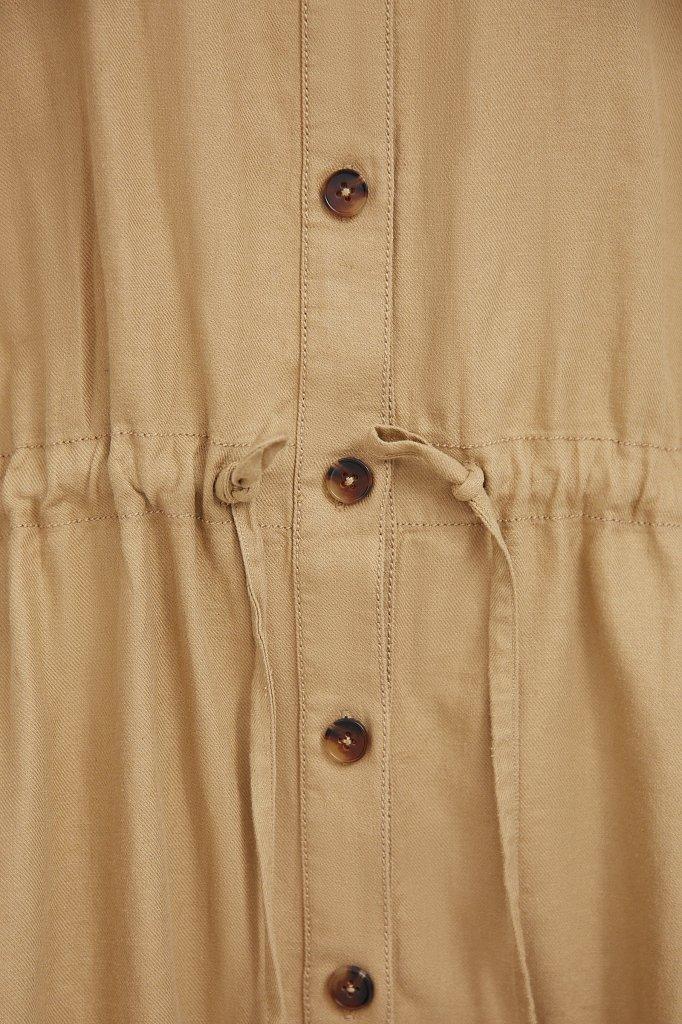 Льняное платье-рубашка, Модель S21-12077, Фото №5