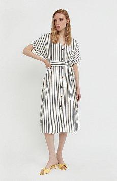 Платье-рубашка с геометричным принтом S21-11002