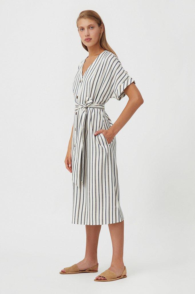 Платье-рубашка с геометричным принтом, Модель S21-11002, Фото №4