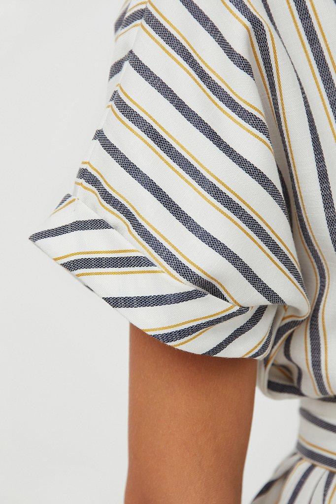 Платье-рубашка с геометричным принтом, Модель S21-11002, Фото №5