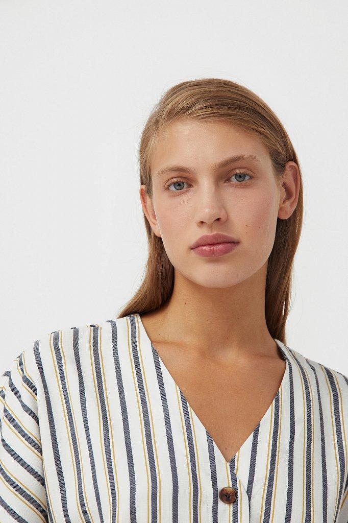 Платье-рубашка с геометричным принтом, Модель S21-11002, Фото №7