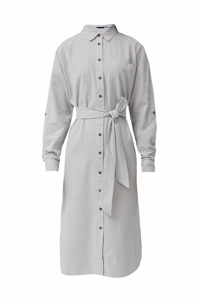 Платье-рубашка в полоску, Модель S21-11008, Фото №7