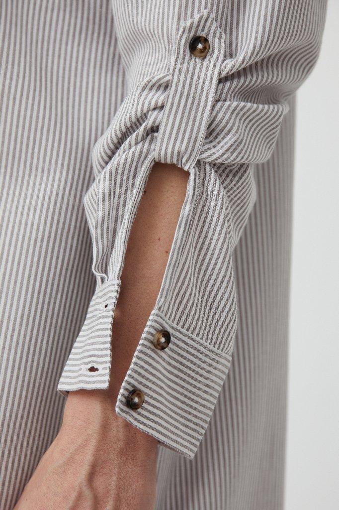 Платье-рубашка в полоску, Модель S21-11008, Фото №6