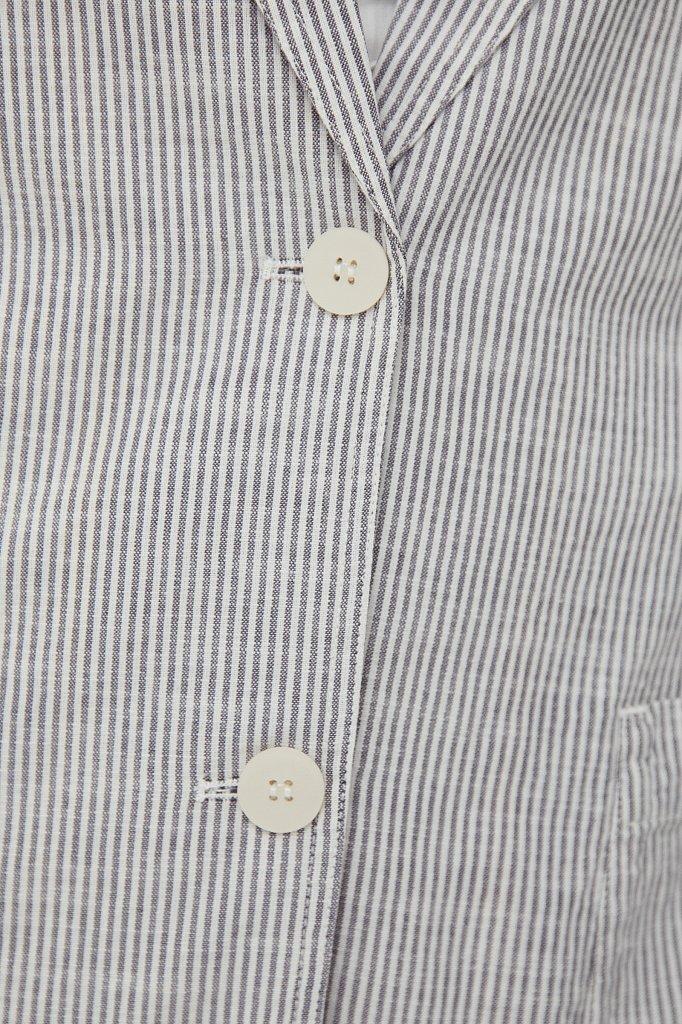 Хлопковый жакет в полоску, Модель S21-11010, Фото №5