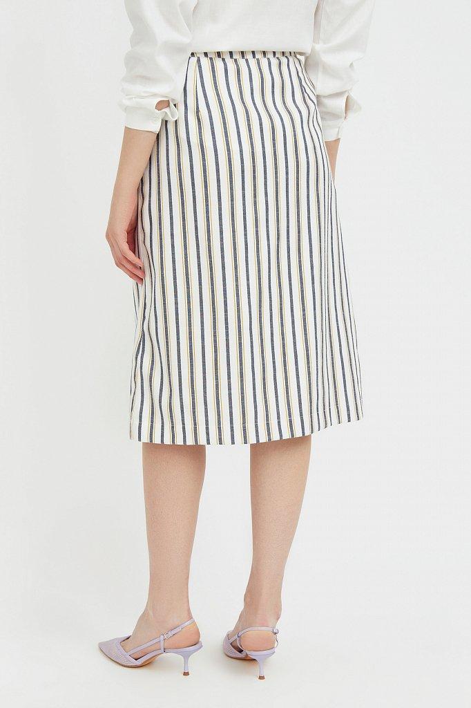 Полосатая юбка миди с запахом, Модель S21-110117, Фото №4
