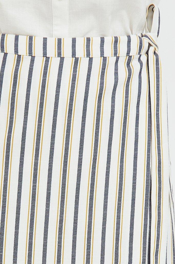 Полосатая юбка миди с запахом, Модель S21-110117, Фото №5