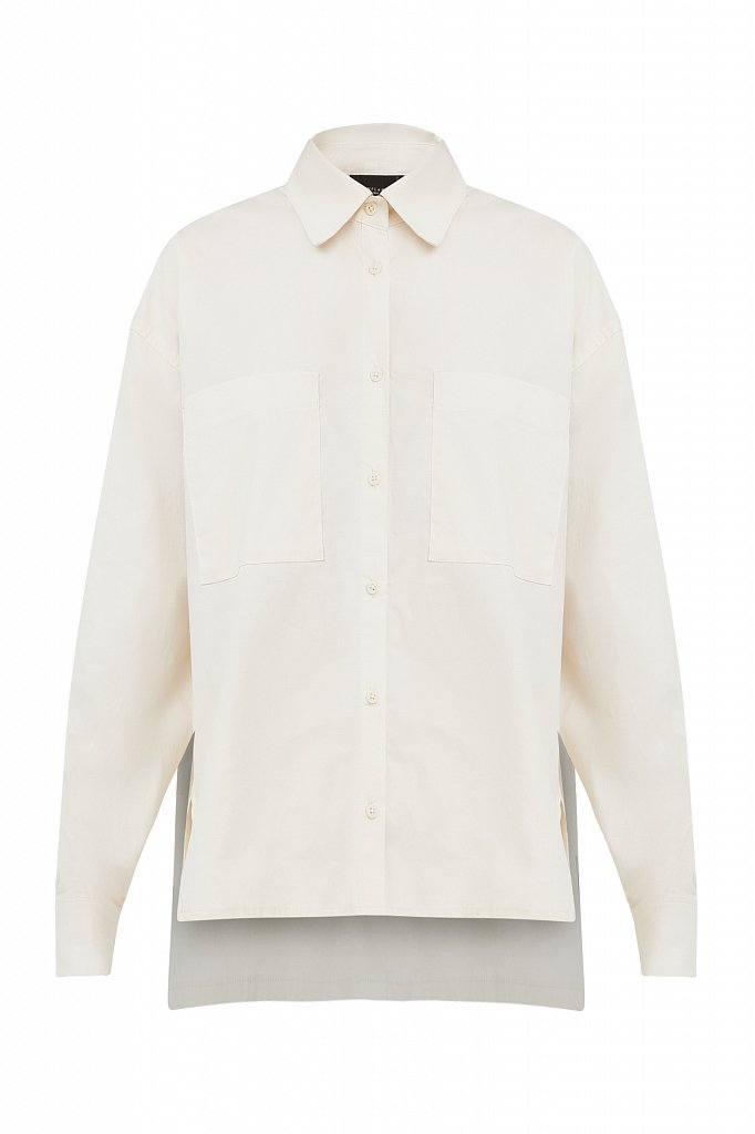 Хлопковая рубашка оверсайз, Модель S21-11051, Фото №7