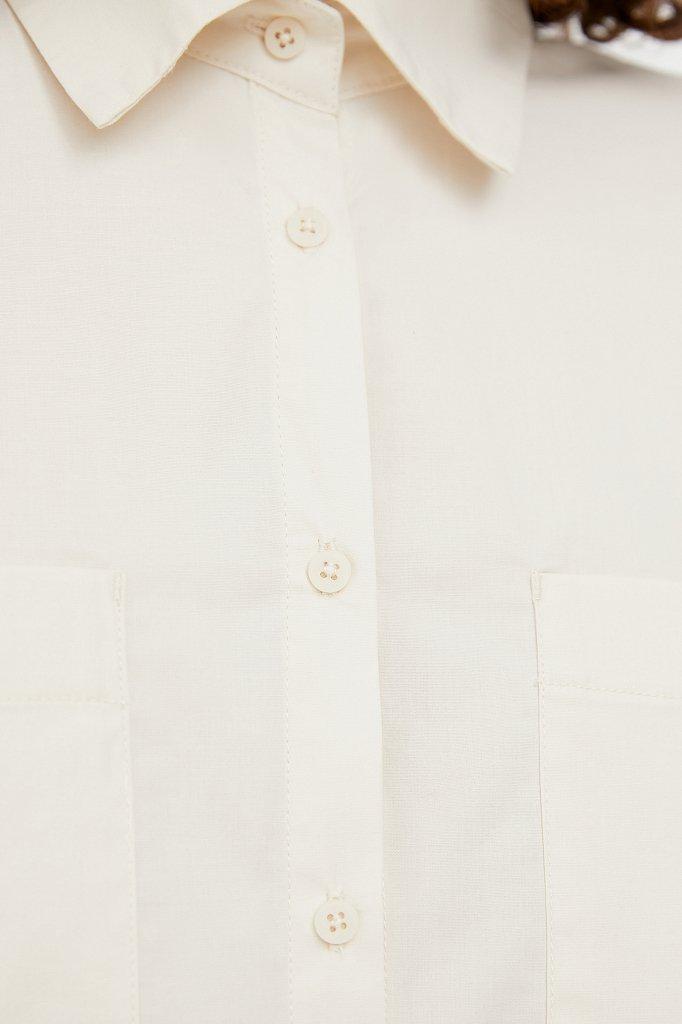 Хлопковая рубашка оверсайз, Модель S21-11051, Фото №5