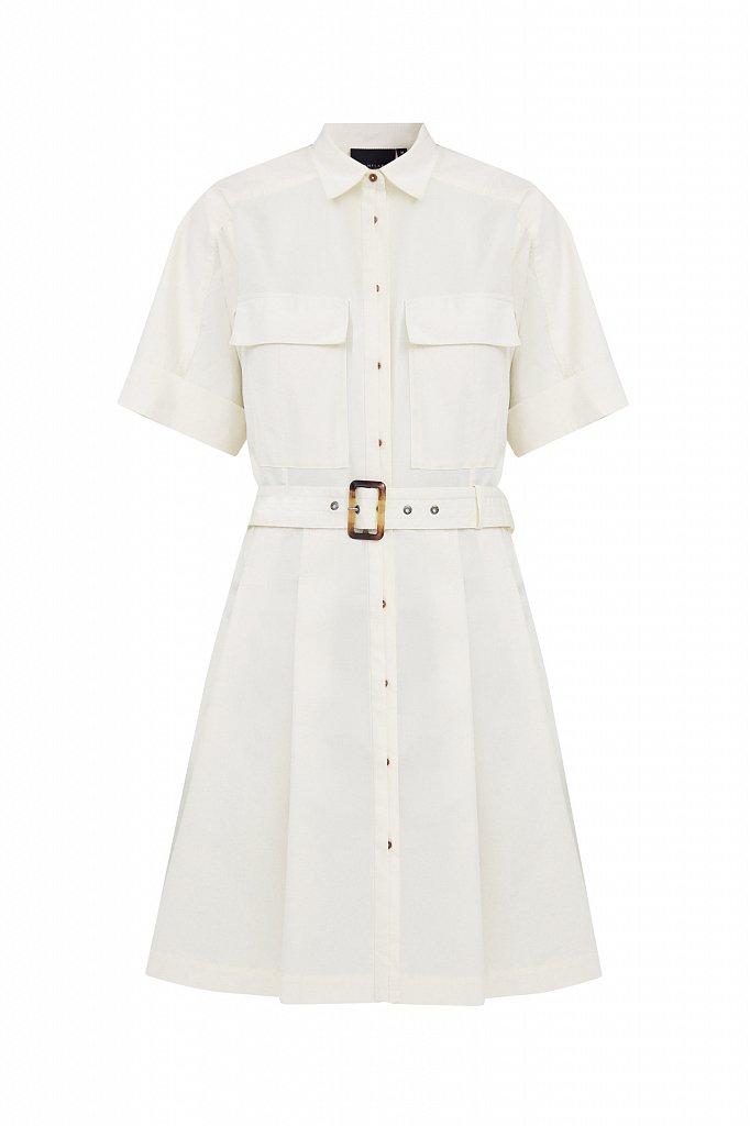 Короткое платье-рубашка из хлопка, Модель S21-11053, Фото №7