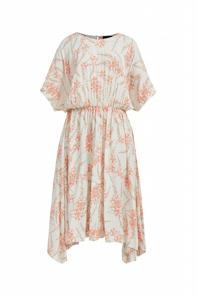 Асимметричное платье с принтом, Модель S21-11065, Фото №7