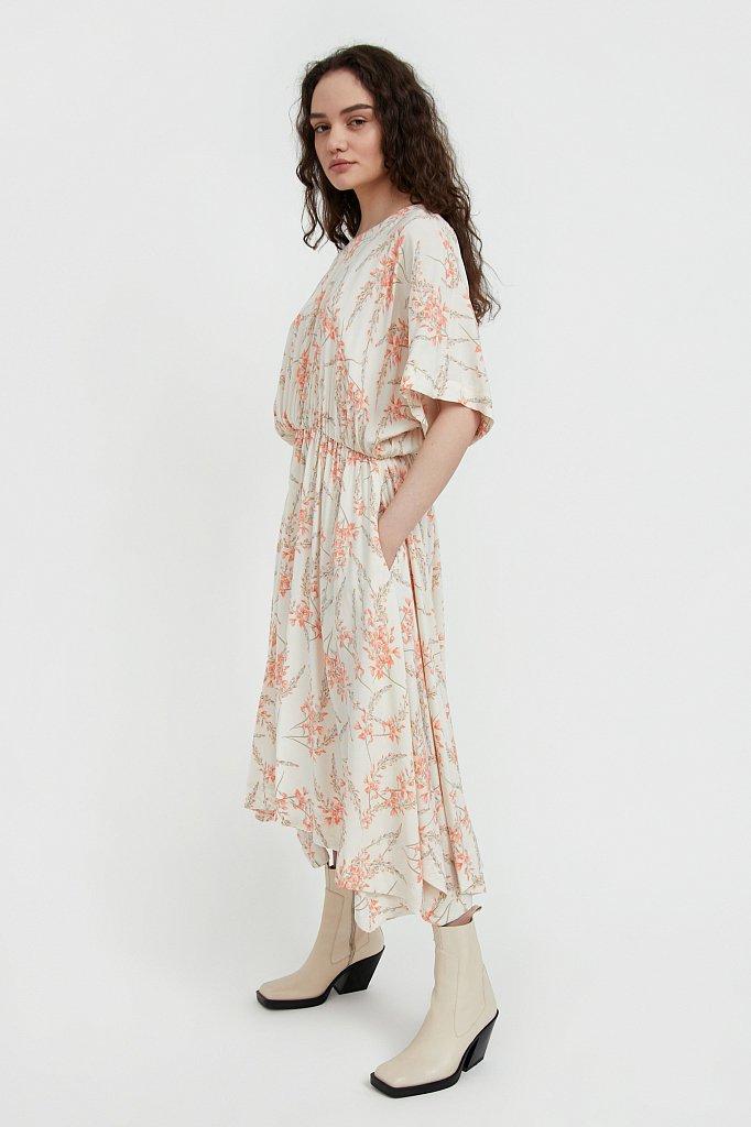 Асимметричное платье с принтом, Модель S21-11065, Фото №3