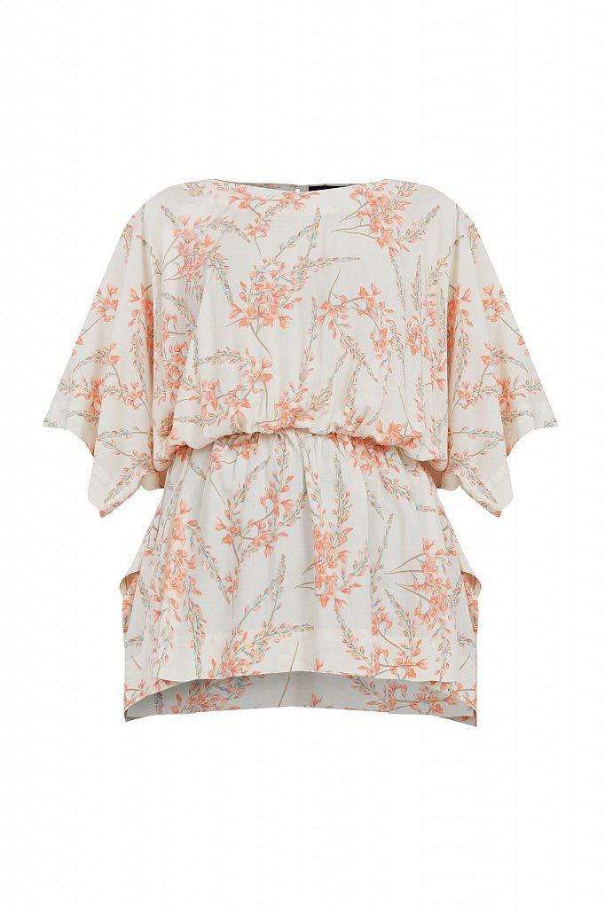 Блуза с цветочным принтом, Модель S21-11067, Фото №7