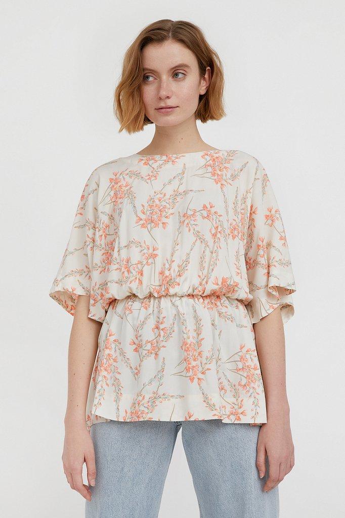 Блуза с цветочным принтом, Модель S21-11067, Фото №1