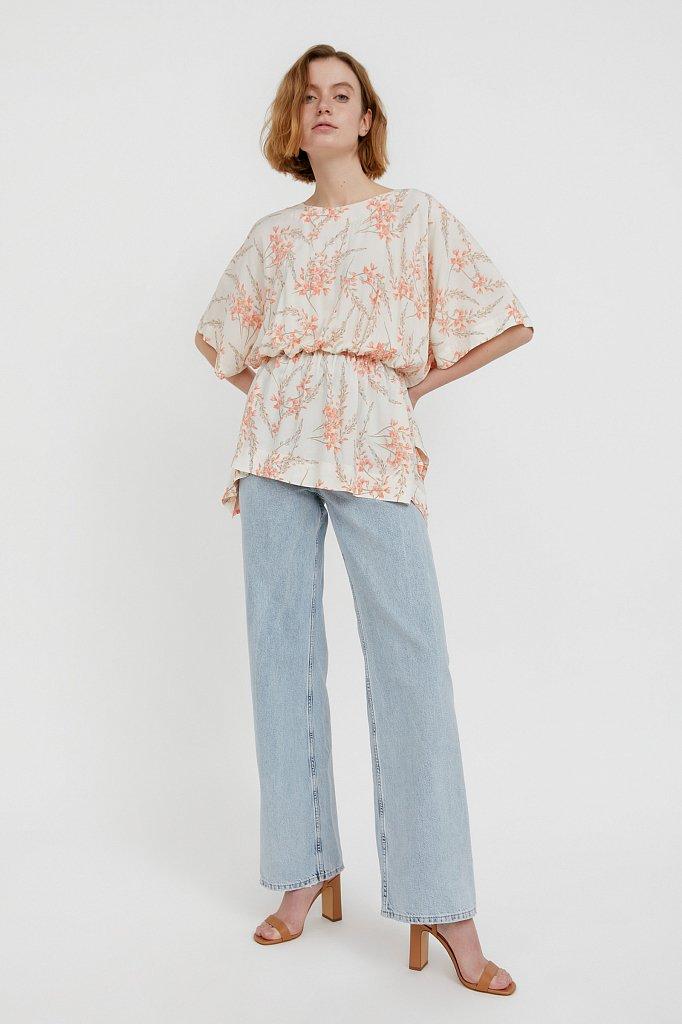 Блуза с цветочным принтом, Модель S21-11067, Фото №2