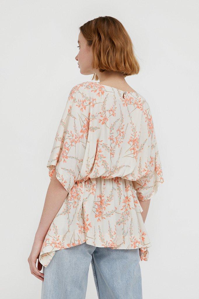 Блуза с цветочным принтом, Модель S21-11067, Фото №4