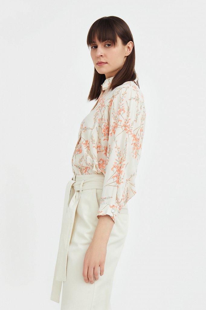 Рубашка с цветочным принтом, Модель S21-11068, Фото №3