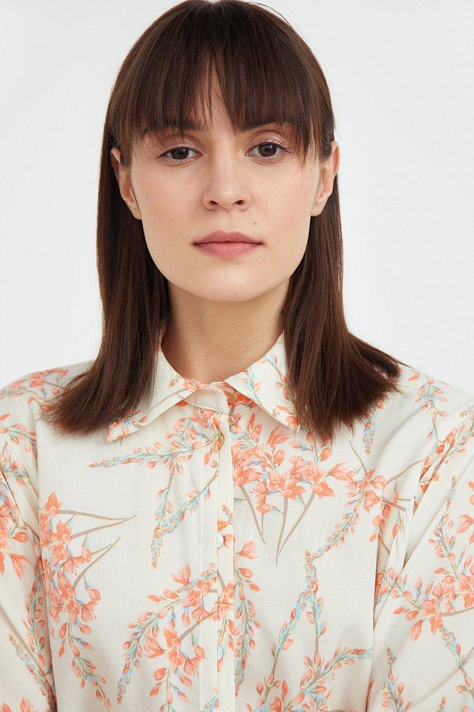 Рубашка с цветочным принтом, Модель S21-11068, Фото №6