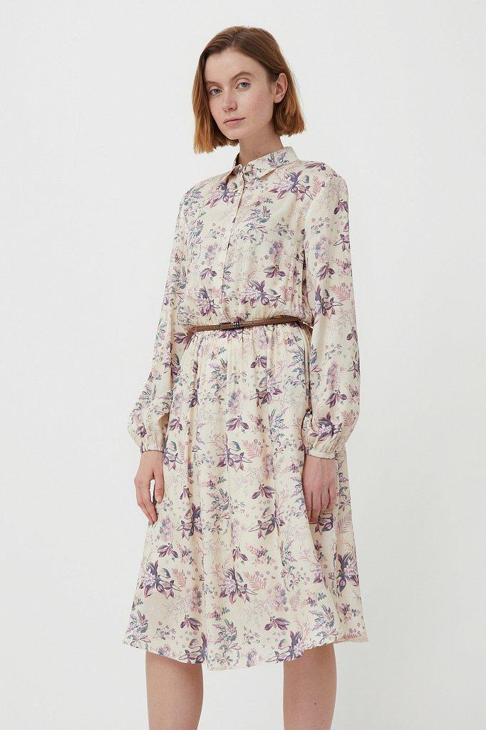 Платье миди с цветочным принтом, Модель S21-12014, Фото №1