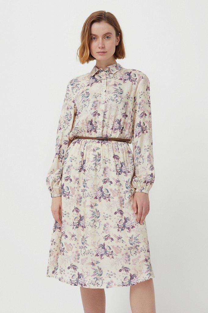 Платье миди с цветочным принтом, Модель S21-12014, Фото №2