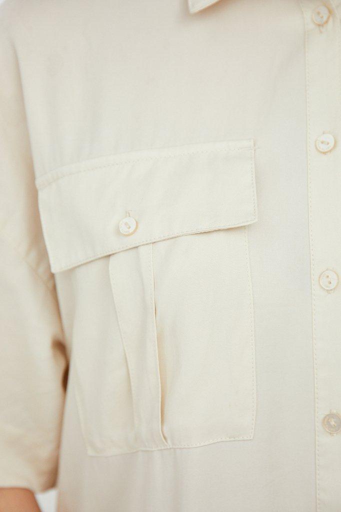 Платье-миди с драпировкой, Модель S21-12054, Фото №5