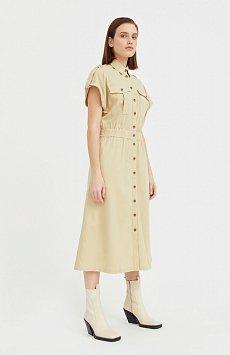Платье-рубашка с короткими рукавами S21-12028