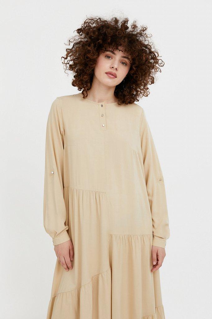 Платье-макси с асимметричными воланами, Модель S21-11078, Фото №2
