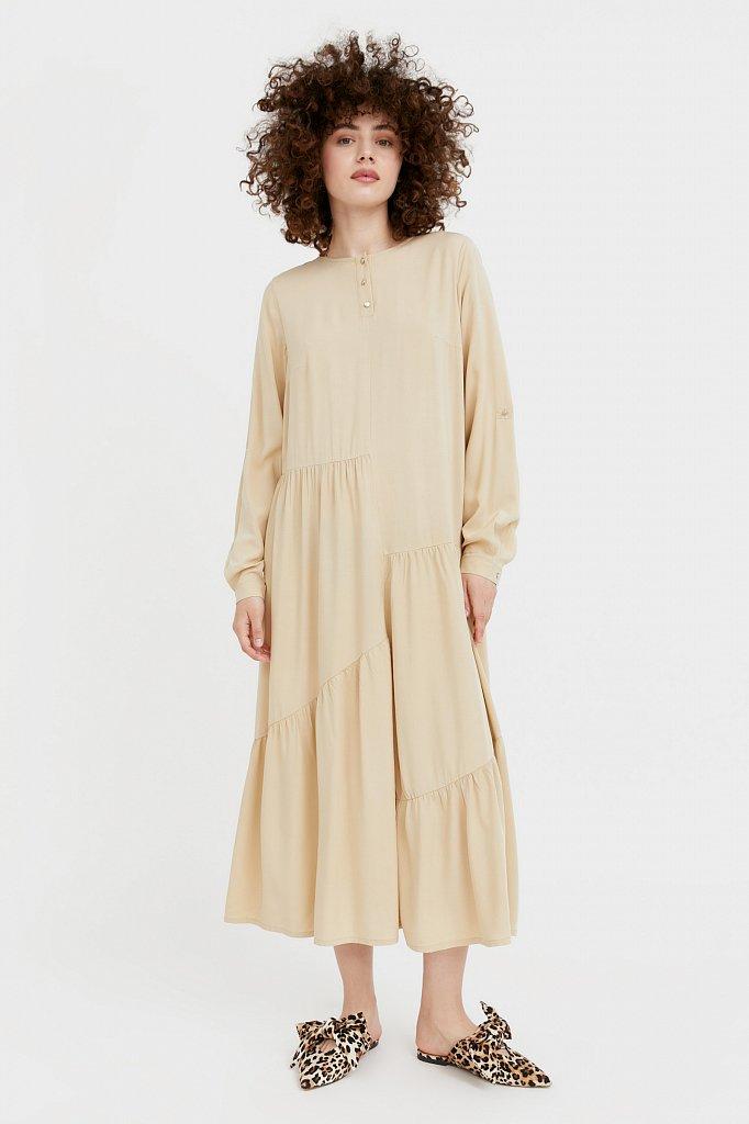 Платье-макси с асимметричными воланами, Модель S21-11078, Фото №3