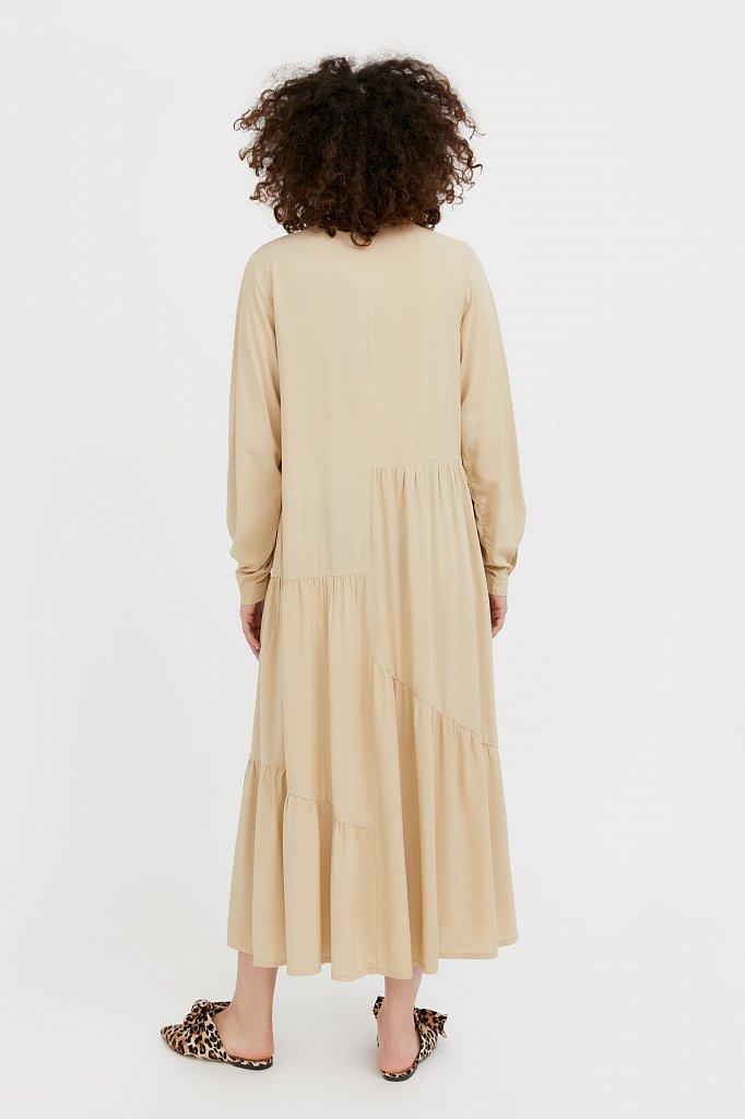 Платье-макси с асимметричными воланами, Модель S21-11078, Фото №4