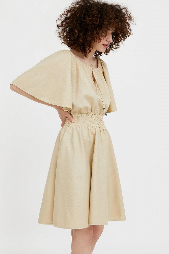 Платье-мини с объемными рукавами, Модель S21-12018D, Фото №3
